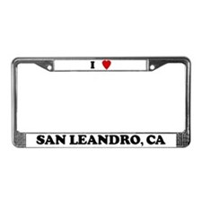 I Love San Leandro License Plate Frame