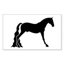 saddle horse Rectangle Decal