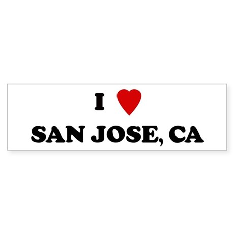 I Love San Jose Bumper Sticker