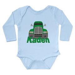 Trucker Kaden Long Sleeve Infant Bodysuit