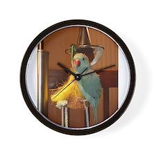 Unique Ringneck parakeet Wall Clock