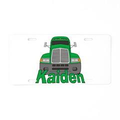 Trucker Kaiden Aluminum License Plate