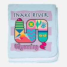 Snake River Wyoming baby blanket