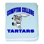 Compton College baby blanket