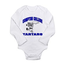 Compton College Long Sleeve Infant Bodysuit