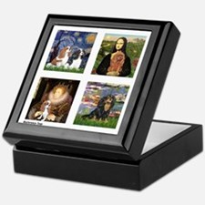 Cavalier Famous Art (clr) Keepsake Box