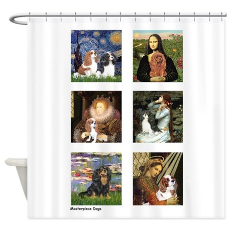 Cavalier Famous Art (clr) Shower Curtain