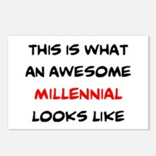 awesome millennial Postcards (Package of 8)