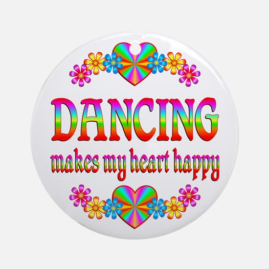 Dancing Happy Ornament (Round)