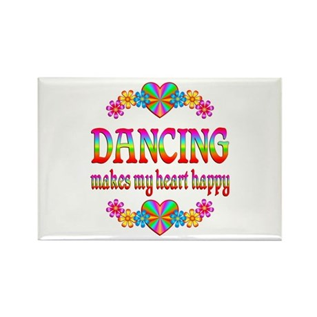 Dancing Happy Rectangle Magnet