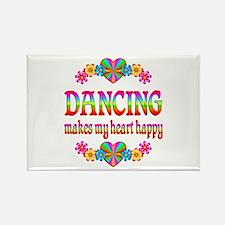 Dancing Happy Rectangle Magnet