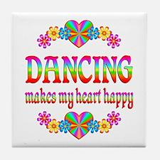 Dancing Happy Tile Coaster