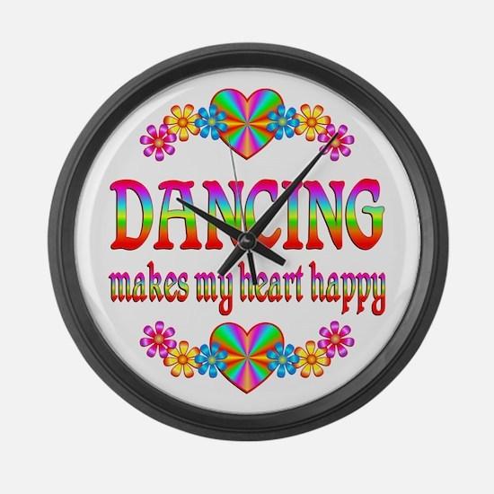 Dancing Happy Large Wall Clock