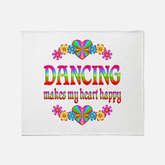 Dancing Happy Throw Blanket