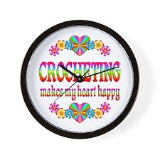 Crochet Happy Heart Wall Clock