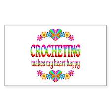 Crochet Happy Heart Decal