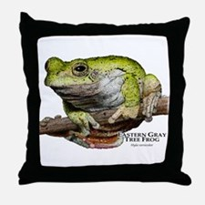 Eastern Gray Tree Frog Throw Pillow