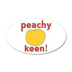 Peachy Keen Funwear 22x14 Oval Wall Peel