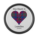 Heart - Lumsden of Kintore Large Wall Clock
