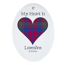 Heart - Lumsden of Kintore Ornament (Oval)