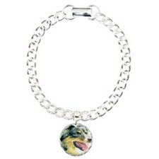 Border Collie Heather Charm Bracelet, One Charm