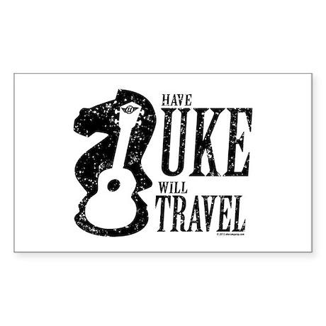 Have Uke Will Travel Sticker (Rectangle)
