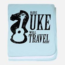 Have Uke Will Travel baby blanket