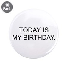 "My Birthday 3.5"" Button (10 pack)"