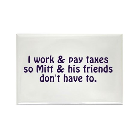I Pay Taxes Rectangle Magnet