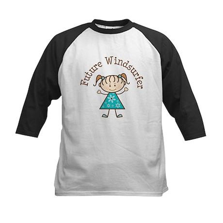 Future Windsurfer Girl Kids Baseball Jersey