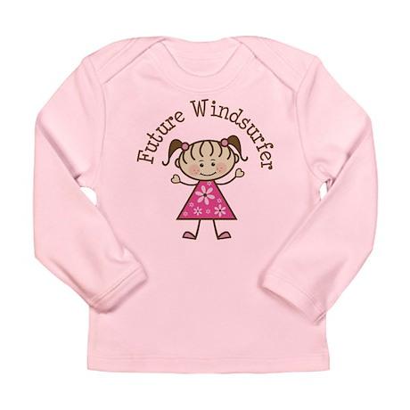 Future Windsurfer Girl Long Sleeve Infant T-Shirt