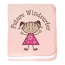 Future Windsurfer Girl baby blanket