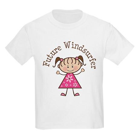 Future Windsurfer Girl Kids Light T-Shirt