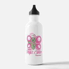 Breast Cancer Cute Butterfly Water Bottle
