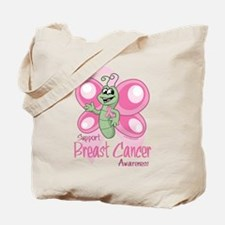 Breast Cancer Cute Butterfly Tote Bag