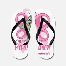 Breast Cancer Cute Butterfly Flip Flops