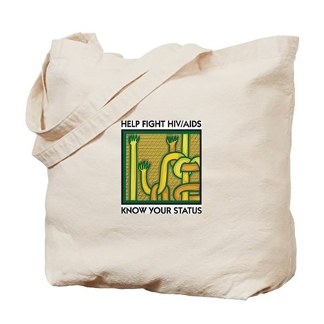 Help Fight HIV/AIDS, Know Your Status Tote Bag