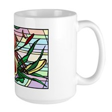 Stained Glass Lily Mug