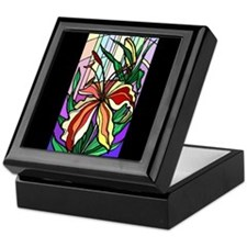Stained Glass Lily Keepsake Box