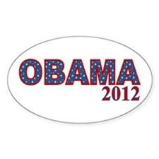 Starry OBAMA 2012 Decal