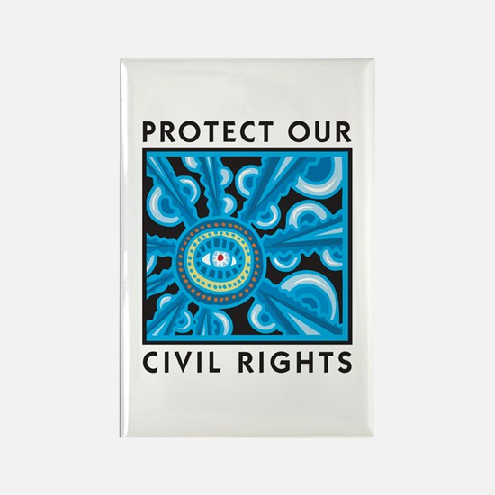 Protect Our Civil Rights Rectangle Magnet
