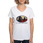 CJ THING Women's V-Neck T-Shirt