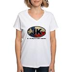 JK THING Women's V-Neck T-Shirt
