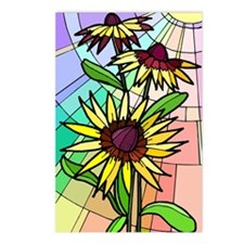Stained Glass Cone Flower Postcards (Package of 8)