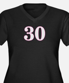 Age 30 Women's Plus Size V-Neck Dark T-Shirt