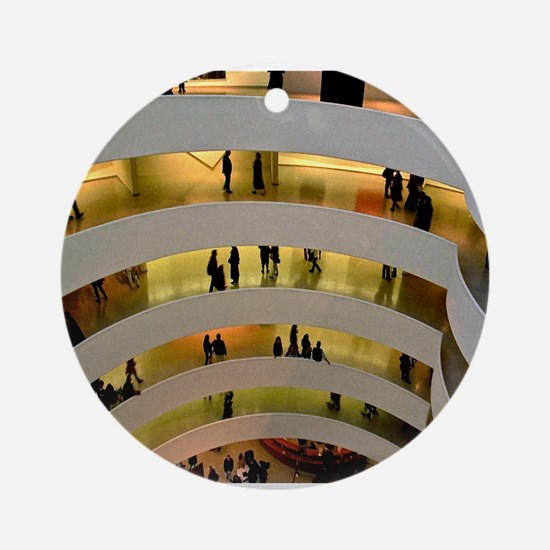 Guggenheim Museum: New York C Ornament (Round)