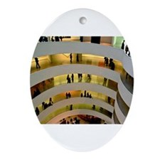 Guggenheim Museum: New York C Ornament (Oval)