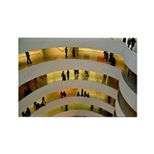 Guggenheim Museum: New York C Rectangle Magnet