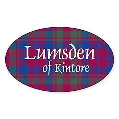 Tartan - Lumsden of Kintore Sticker (Oval)