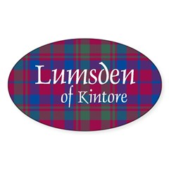 Tartan - Lumsden of Kintore Sticker (Oval 10 pk)